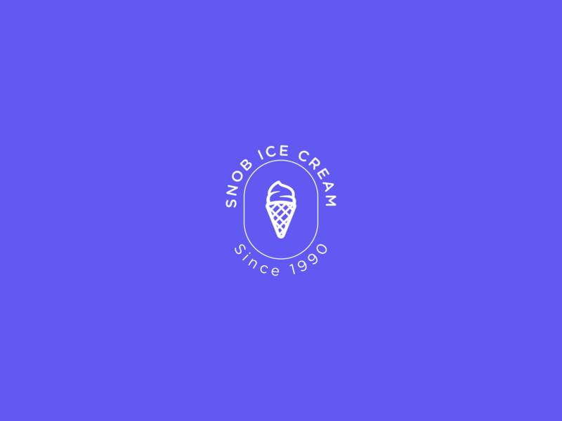 Snob Ice Cream illustrator dailylogochallenge dailyui design logo