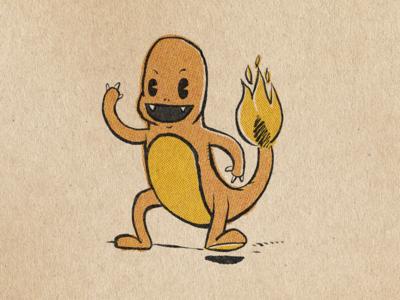 Vintage Pokemon - Charmander