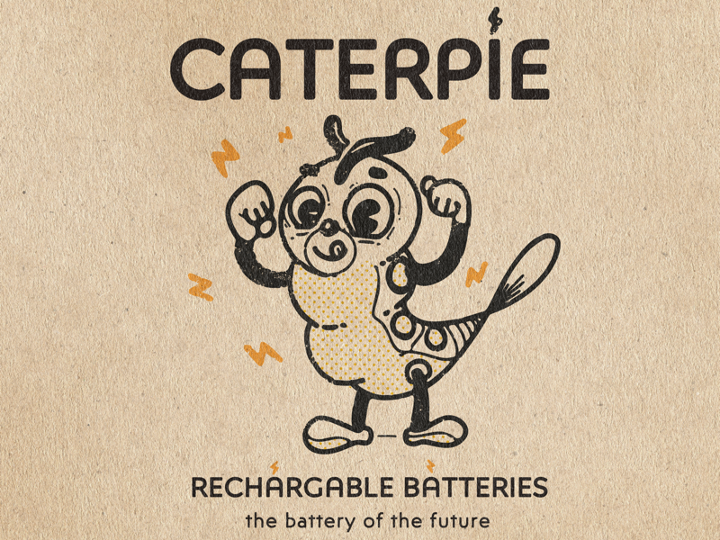 Pokemon | 010 | Caterpie pokemon branding logo vintage illustration
