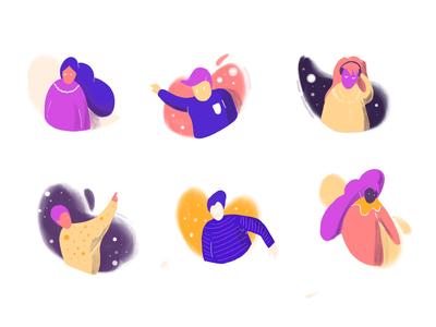 Flat illustration Daily - characters flat illustration illustration