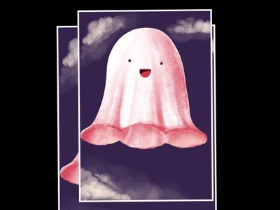 Flat illustration Daily - cloud character illustration