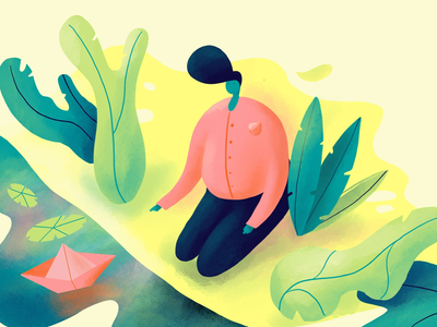 Flat illustration Daily - Green character