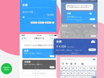 Daily APP UI - Budget management app abstract color suggest cyan blue ux design uidesign weather input card management property interface experience design mobile application app