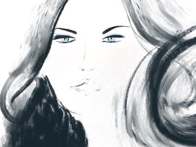 #woman #brushlike #paint