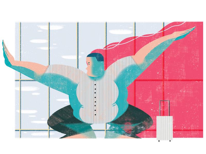 The Difficult Customer taiwan photoshop illustrator illustration illo editorial design