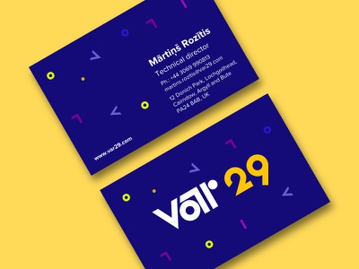 Business Cards concept shapes bauhaus branding logo concept