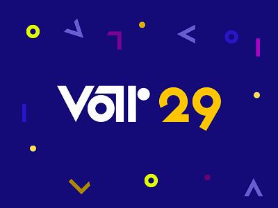 var29 logo brand colourful shapes geometric flat bauhaus logo