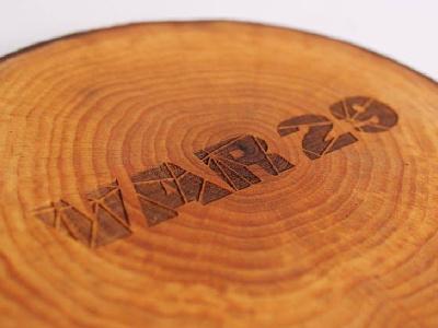 Logo Engraving engraving branding lines wood logo