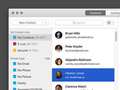 Learning macOS app design desktop app contacts design mac native macos