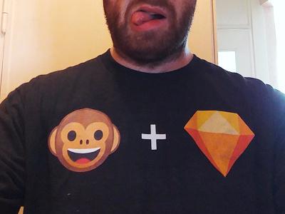 Sketch Monkey Shirt monkey sketch shirt