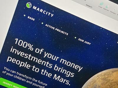 Landing Page donate mars space landing