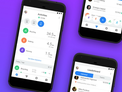 Sparkz Mobile Application mobile design application mobile ui android commute sport leaderboard activity tracker