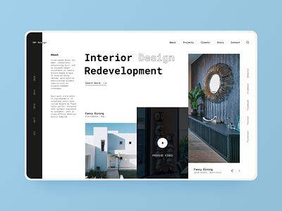 Interior design website design typography minimal agency ux design ui design webdesign