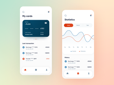 Fintech App - Mobile App top ux ui designer mobile ui ux mobile design mobile application mobile app apps design app