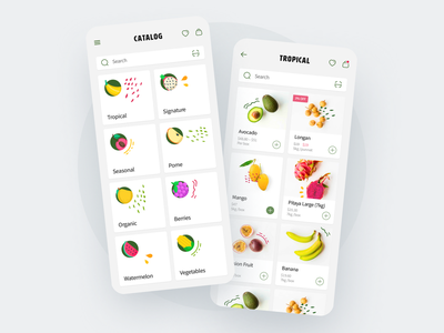 Fruits App - Mobile App top ux ui designer mobile ui ux mobile design app design mobile application design app application mobile ios ux ui