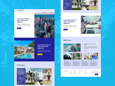 Real Estate Sample branding web ui concept color design
