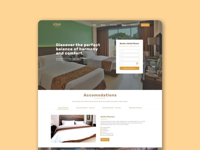 A Hotel Sample design ui web design
