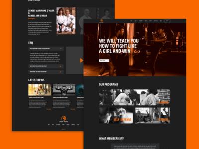 Dark Themed Web Design website web creative color design ui