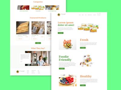 Food Type Design concept color web ui design