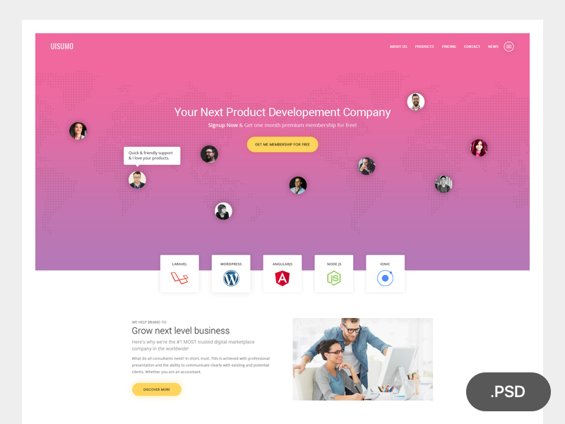 Download SuMo Single Page Creative PSD Template