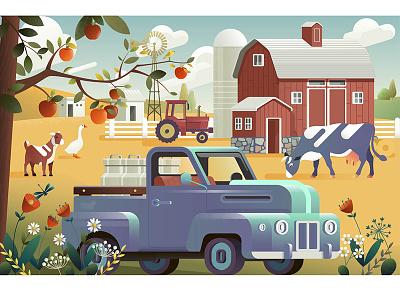 Eco Farming house food farming eco design concept agriculture icon farm