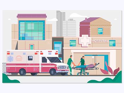 Medicine ambulance concept