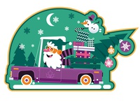 Cute Cartoon Santa Claus Sticker