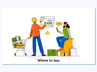 Couple shopping online e-commerce distribution digital design delivery concept commercial chat cart buy business bag background payment illustration commerce electronic
