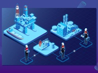 Gas oil industry isometric