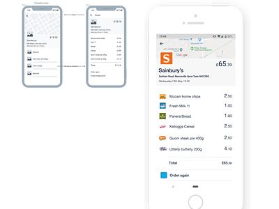 Monzo   receipt breakdown big data product design casestudy ui ux