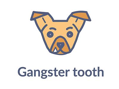 Gangster Tooth brown illustrator illustration dog