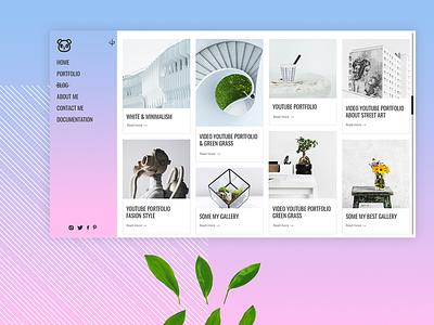 Panda   Portfolio Theme photo minimal art minimal blog blog design blog cover blog ux design uidesign ui