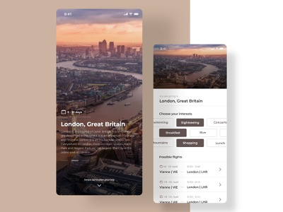 Travel Planer App pixelart uidesign product colors travel minimal iphonex app user interface design ux ui