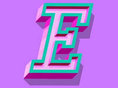 Letter E logo illustration letter e type art procreate lettering ipad pro lettering handlettering letteringart 3d letters typography lettering