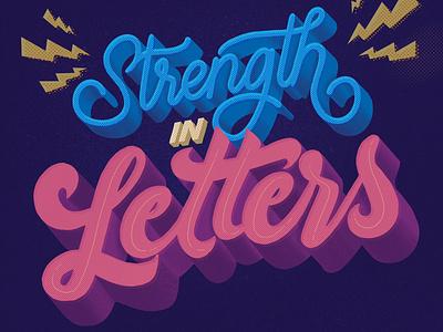 Strength In Letters goodtypetuesday type art dailylettering strength in letters logo handlettering design procreate lettering lettering artist typography illustration modern lettering letteringart 3d letters lettering