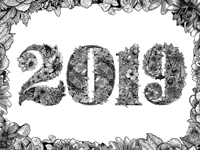 2019 Living Floral Typography procreate illustration ipad pro lettering artist floral design typography lettering didone bodoni floral illustration illustration typography art
