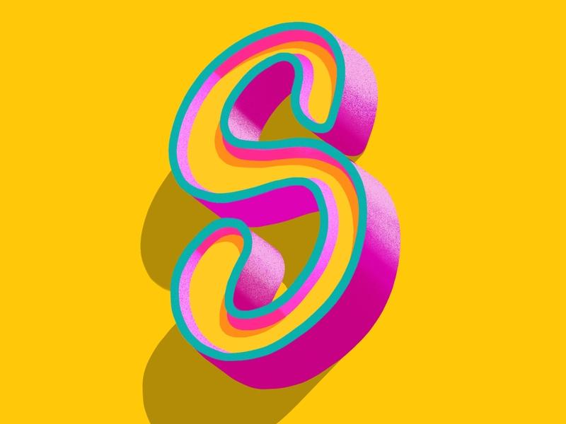 3d Letters - Letter S type art letter s procreate lettering procreate ipad pro handlettering typography
