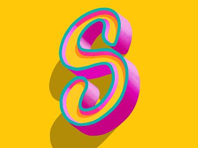 3d Letters - Letter S type art letter s procreate lettering procreate ipad pro handlettering typography logo modern lettering lettering artist letteringart lettering illustration 3d letters