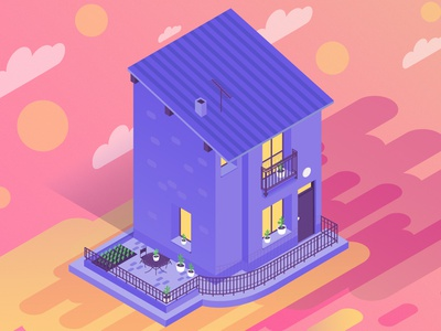 Our Isometric House 3d art illustrator architectural design buildings house illustration home house isometric illustration digital illustration illustration isometric art isometric