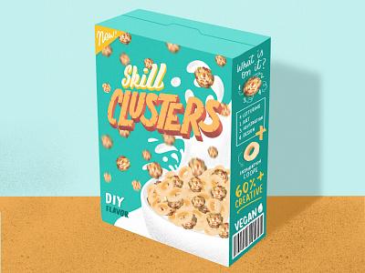My Serial Traits! graphic design vintage packaging vintage design cereal digital illustration ipad pro illustration packaging design 3d letters lettering artist letteringart typography lettering illustration