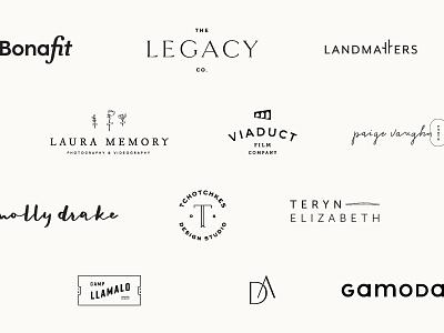 2017 Logo Roundup 01 lettering branding typography submark logo