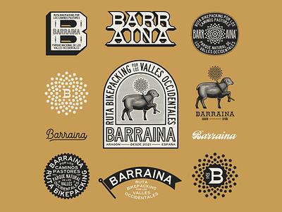 Barraina Branding brandmark monogram icon logotipe sheep engraving illustration branding