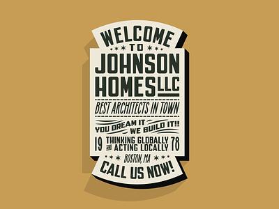 Johnson Homes LLC traditional branding logo typelockup lockup typography type logotype crest badge vintage