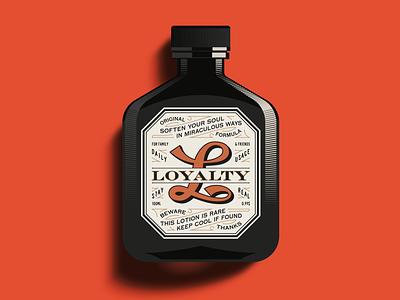 L is for Loyalty ephemera packaging package vector logo design illustration type logotype branding badge typography vintage