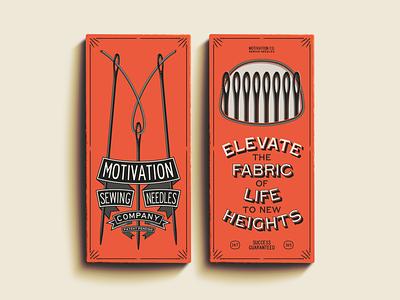 M is for Motivation ephemera packaging package vector logo design illustration type logotype branding badge typography vintage