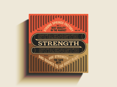 S is for Strength tin can vintage traditional ephemera packaging package vector logo design illustration type logotype branding badge typography