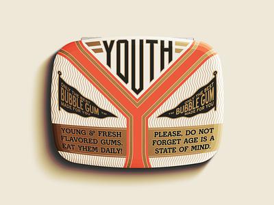 Y is for Youth package packaging vintage ephemera vector logo design illustration type logotype branding badge typography