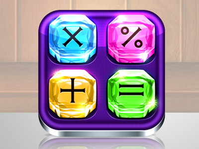 Grand Gems Calculator PRO Icon icon iphone calc calculator math sums gems ipad