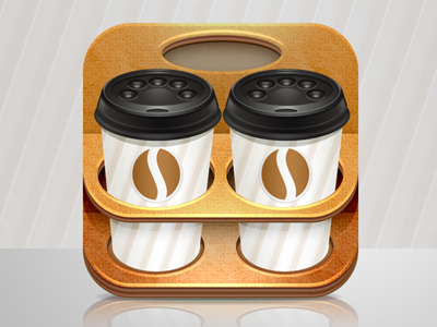 Coffee cup iphone icon coffee club iphone ipad icon cardboard
