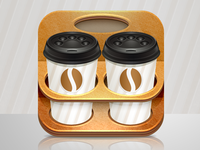 Coffee cup iphone icon